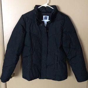 Gap black puffer coat